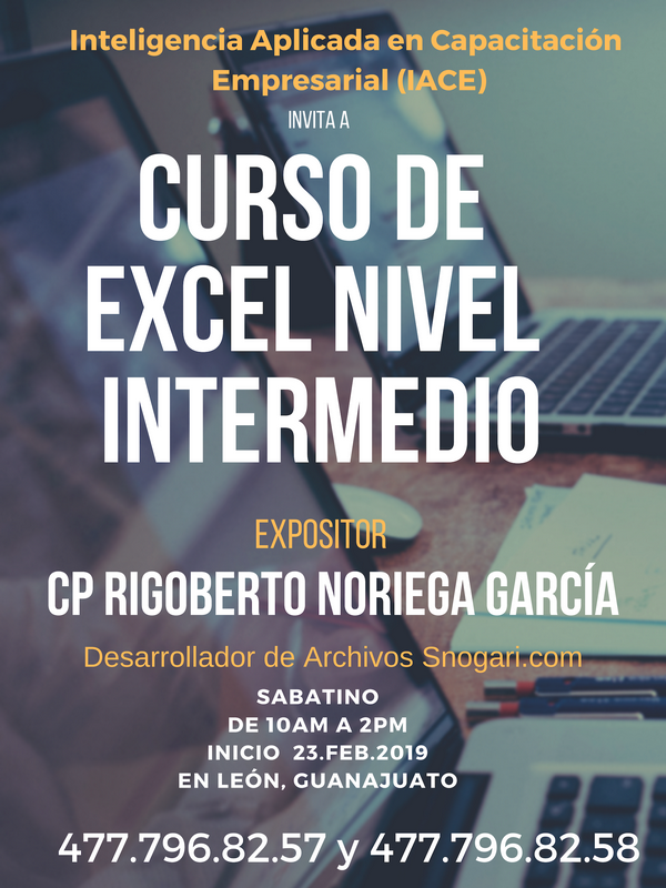 Curso nivel Intermedio de Excel